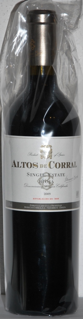 Altos de Corral 2009 Single Estate Rioja DOC 14 %